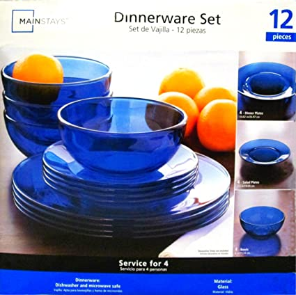 Mainstays Dinnerware Set 12 Piece Set & Amazon.com | Mainstays Dinnerware Set 12 Piece Set: Dinnerware Sets