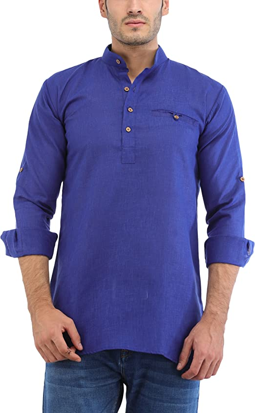 Trendy Trotters Men's Cotton Short Kurta Ethnic Wear at amazon