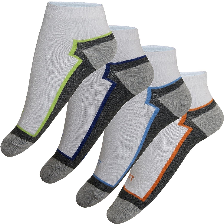 12 24 Paar Sneaker Socken Füßlinge Damen Herren Baumwolle Weiß Grau Motiv Bunt Unifarben von SGS