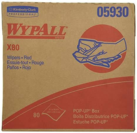 Kimberly-Clark WypAll X80 toallitas Reutilizable (05930), Uso prolongado limpiaparabrisas Pop-