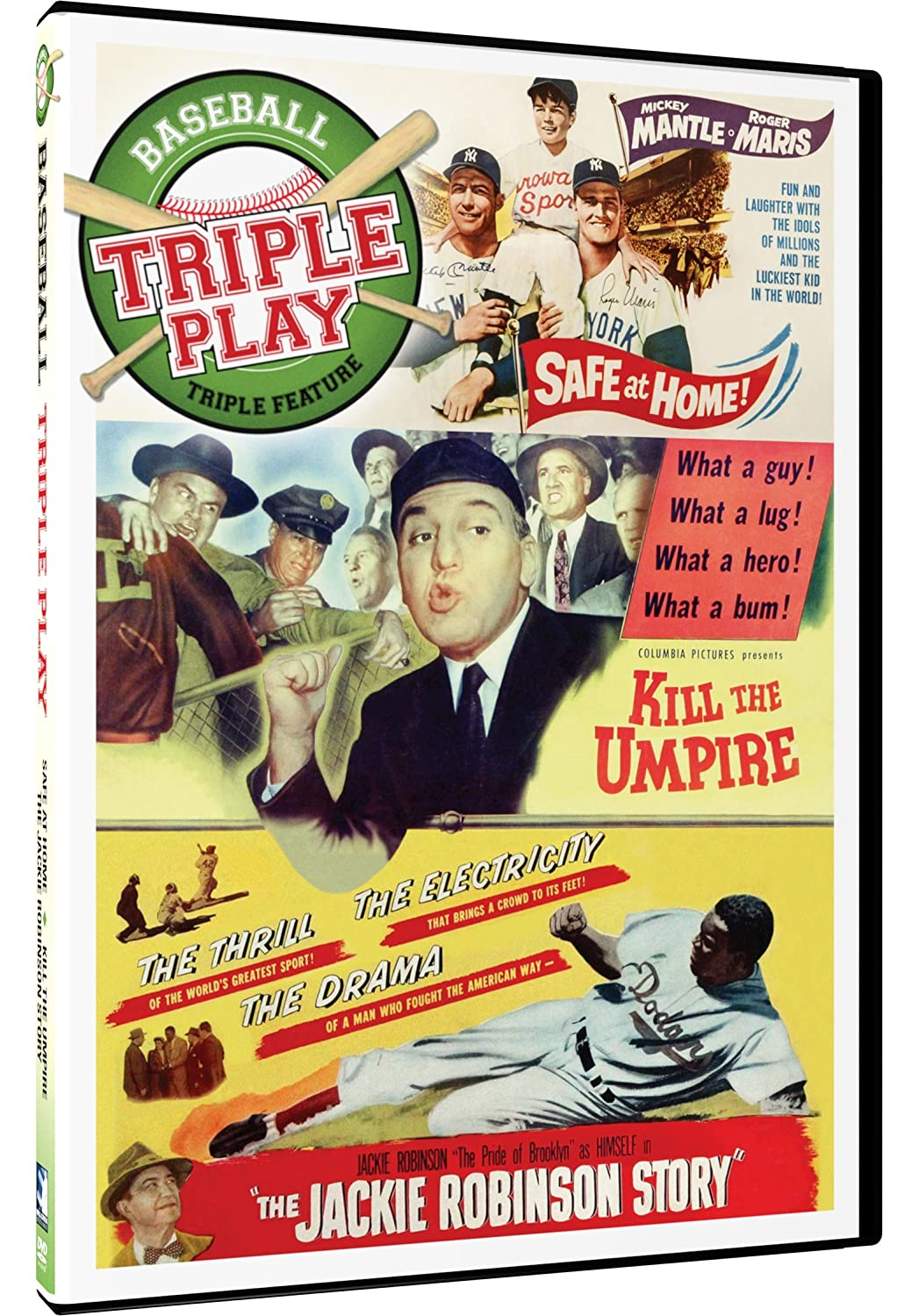 Triple Play - Baseball Triple Feature: Safe at Home, Kill the Umpire, The Jackie Robinson Story