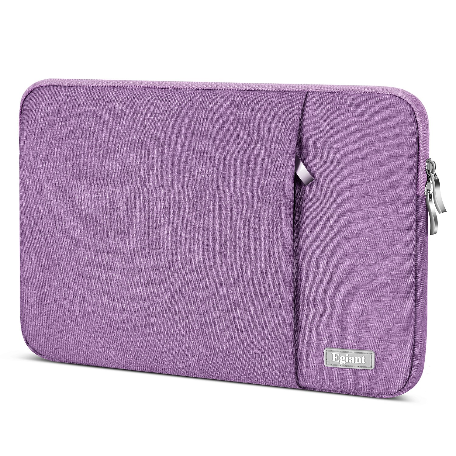 Laptop Sleeve 15.6 Inch,Egiant Water Repellent Protective Fabric Notebook Bag Case Compatible F555LA MB168B,Aspire E15, Chromebook 15,Inspiron 15.6, 15.6 Inch Pavilion,Computer Carrying Case,Purple by egiant