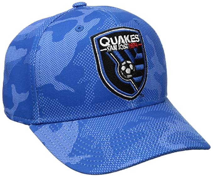 the latest 39bb0 196fd Amazon.com   MLS San Jose Earthquakes Adult Men MLS SP17 Fan Wear Tonal  Camo Structured Adjustable Cap, OSFM, Blue   Clothing