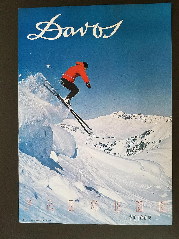 Amazon.com: LooArt Original 1960's Davos SKI Poster PARSENN ...