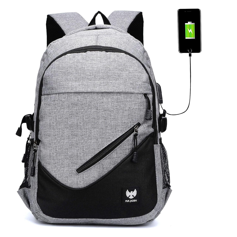 Fur Jaden Anti Theft Waterproof USB Charging 25 Ltrs Grey