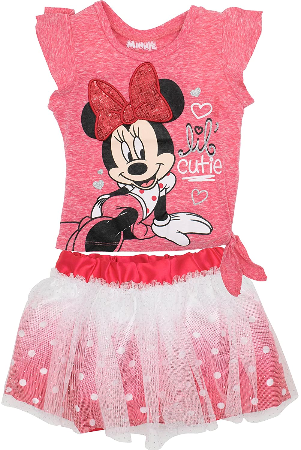 Disney Minnie Mouse Toddler Girls' Fashion T-Shirt and Tulle Skirt Set