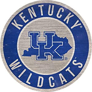 "Fan Creations NCAA Kentucky Wildcats 12"" Circle with State and Team Logo Wood Sign"