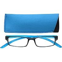 UV Reader Nero Blu Brillante Collo Occhiali Da Lettura Uomo Donna UVR020