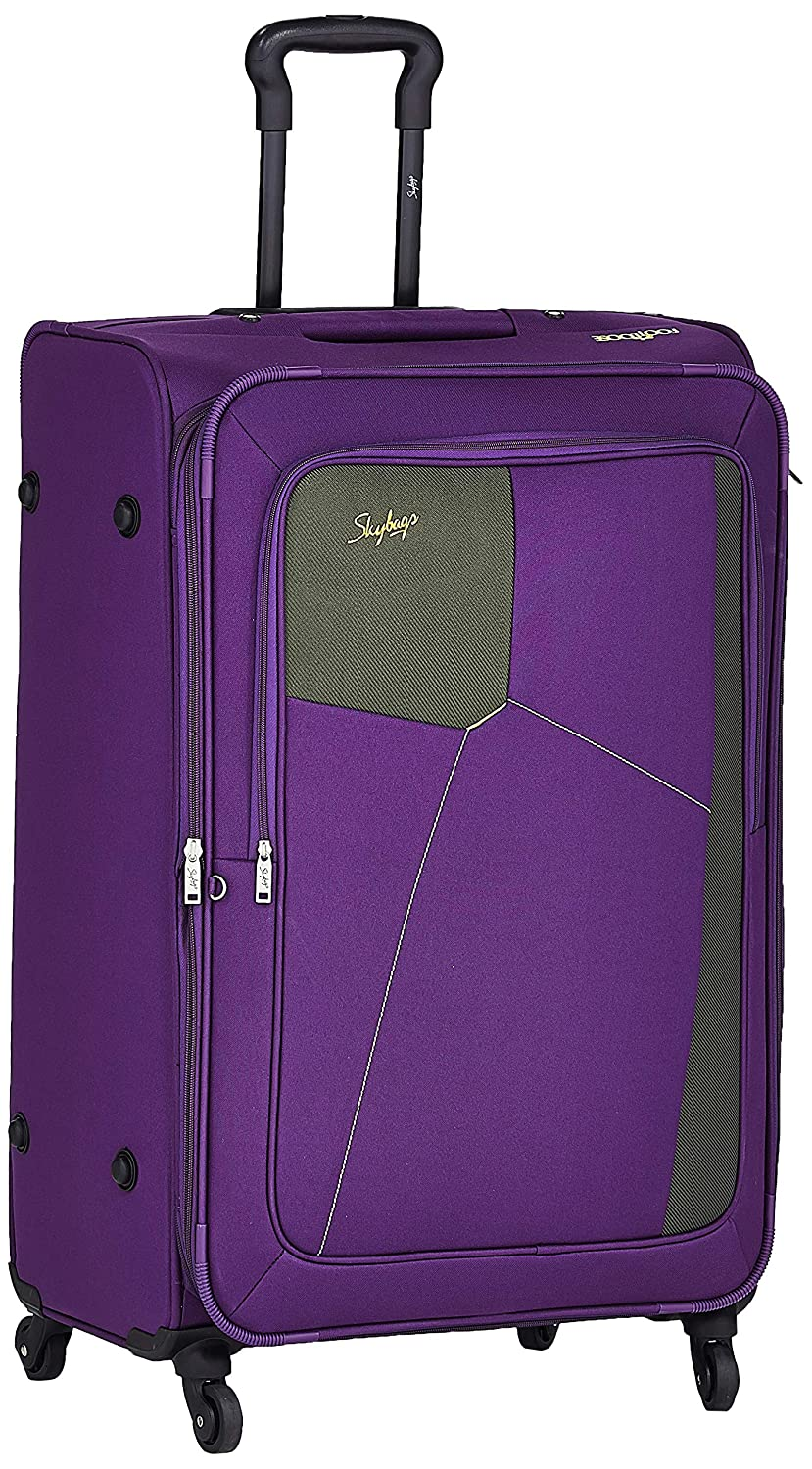 Skybags Rubik Polyester 78 cms Purple Softsided Check-in