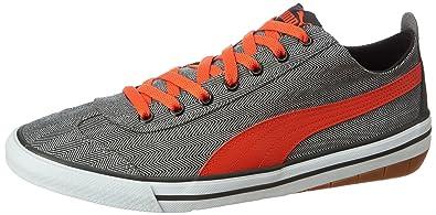 Puma Unisex 917 Herringbone Asphalt-Cherry Tomato-Black Sneakers - 4 UK  India 0b8b2f99f