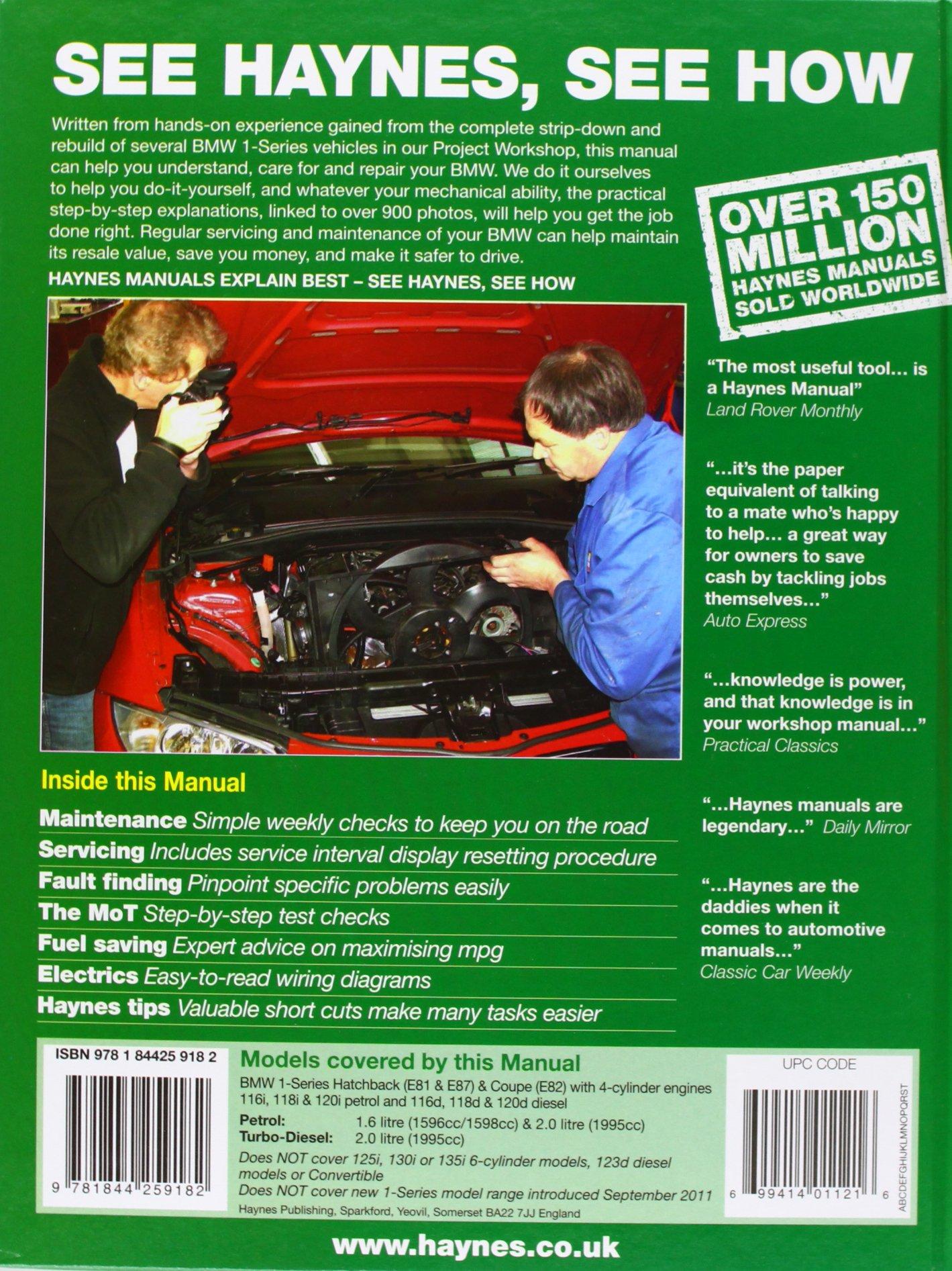 BMW 1 Series Petrol & Diesel (04-11). Martynn Randall (Haynes Service and Repair  Manuals): Martynn Randall: 9781844259182: Amazon.com: Books