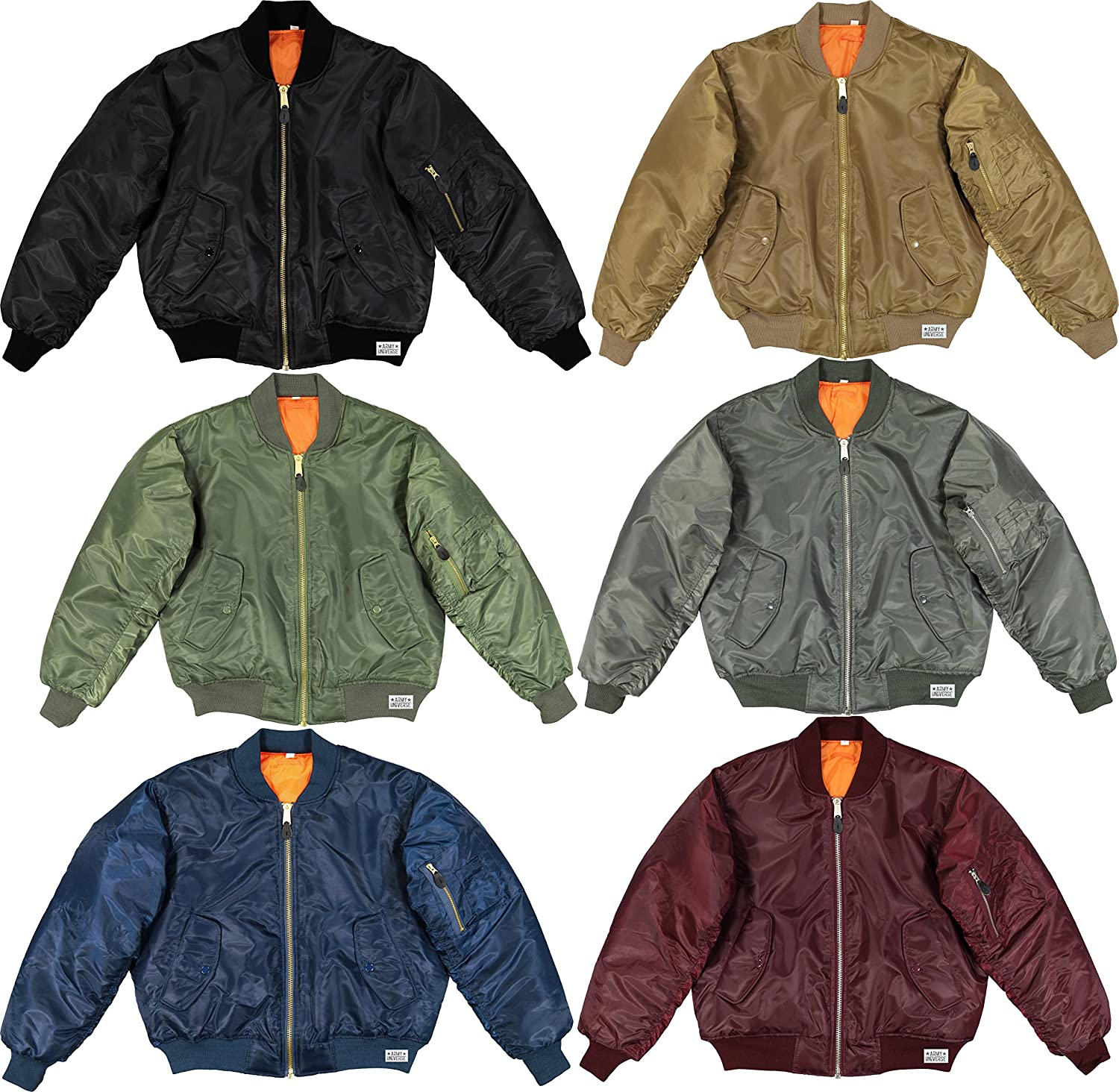 MA-1 Bomber Flight Jacket Reversible Air Force Military Coat with ... 3f36164840a