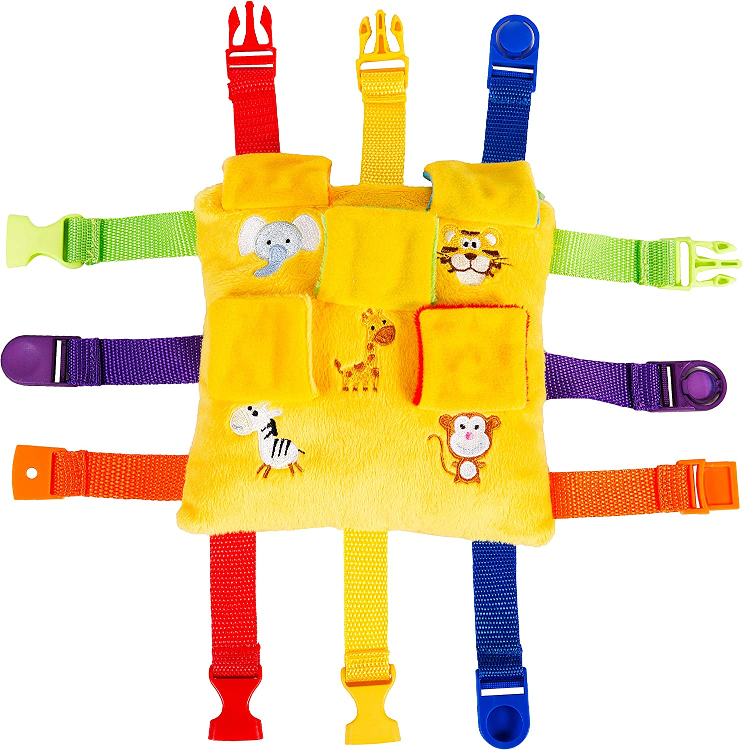 "BUCKLE TOY /""Bizzy/"" Orange Square"