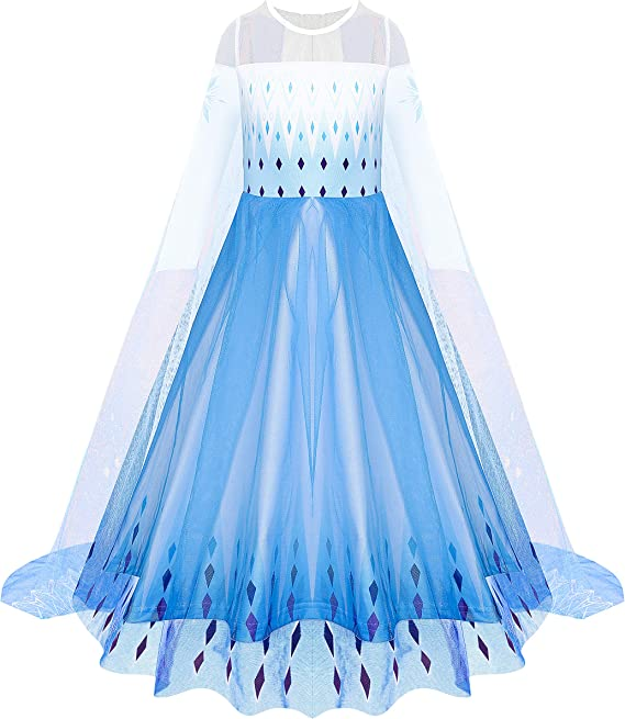 UK Girls Princess Fancy Dress Up Costume Party Wedding Clothes Outfit Clothing