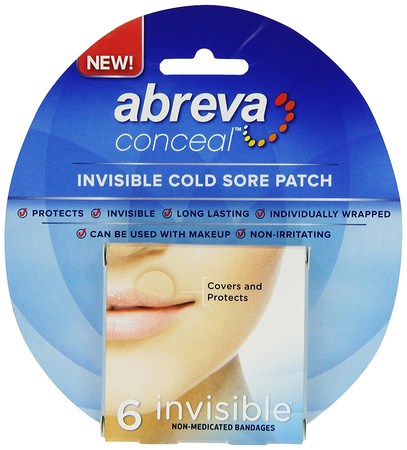 Abreva Conceal Cold Sore Patch, 6 Count