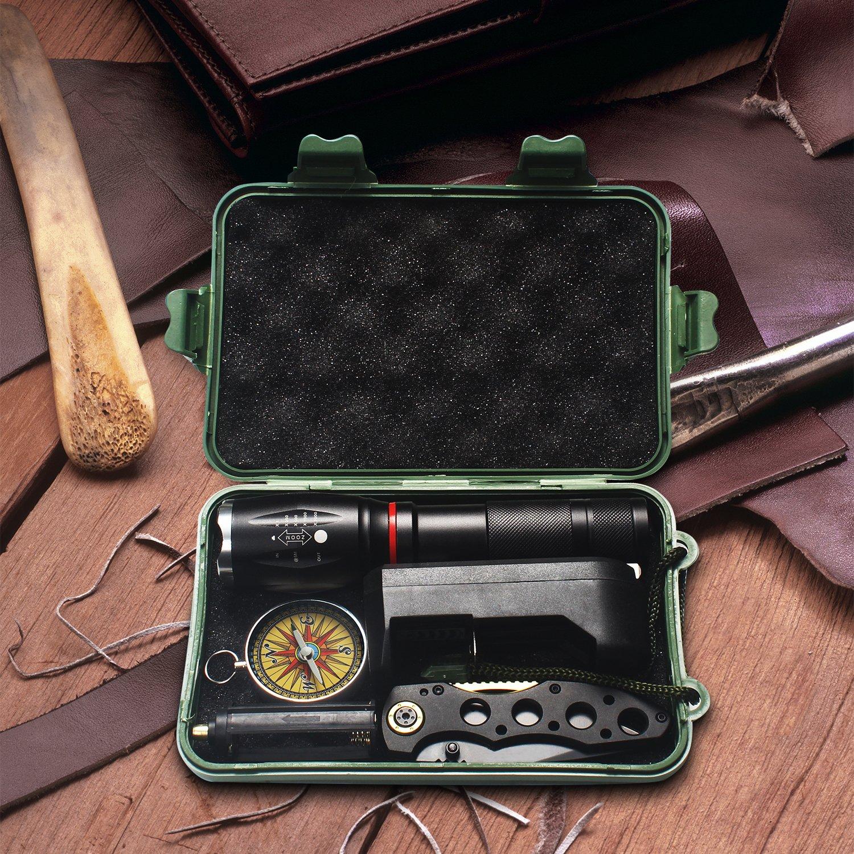 HUAERLI OK-F1 Black Tactical 800 Lumens Ultra Bright LED Work Handheld Flashlights With 5 Modes