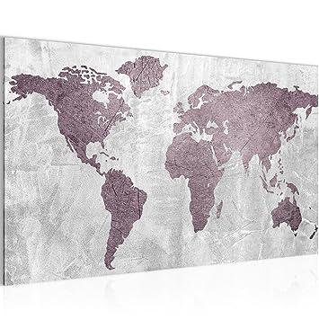 Bild Weltkarte World Map Wandbild Vlies Leinwand Bilder Xxl