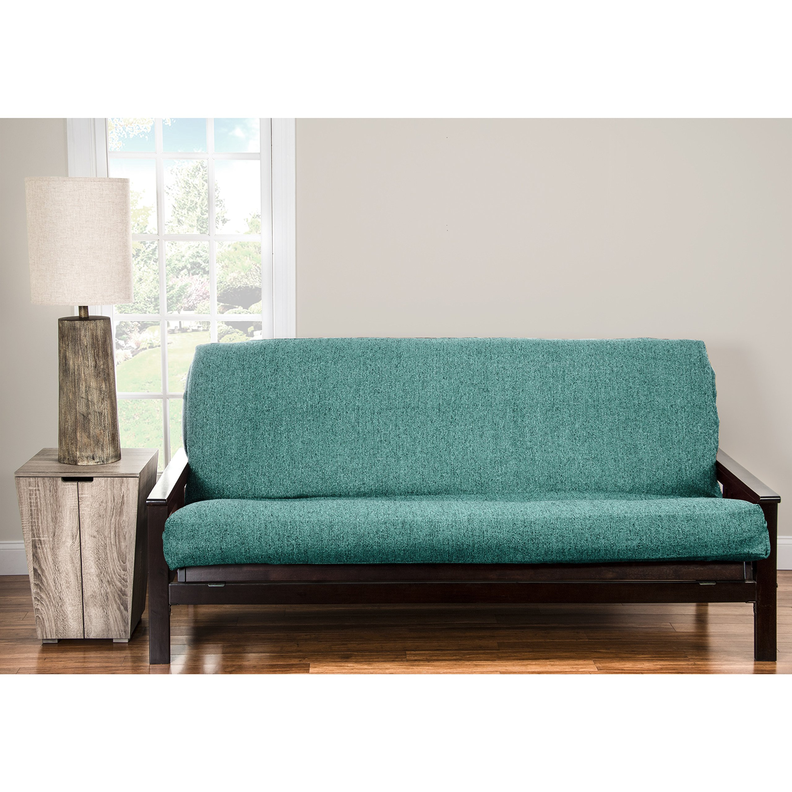 SIScovers PoloGear Belmont Turquoise Homespun Futon Cover - Turqoise Queen by SIS Covers