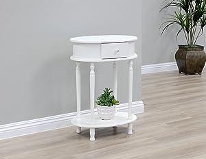 "Frenchi Home FurnishingTable, 20.69"" x 14.97"" x 9.46"", White"