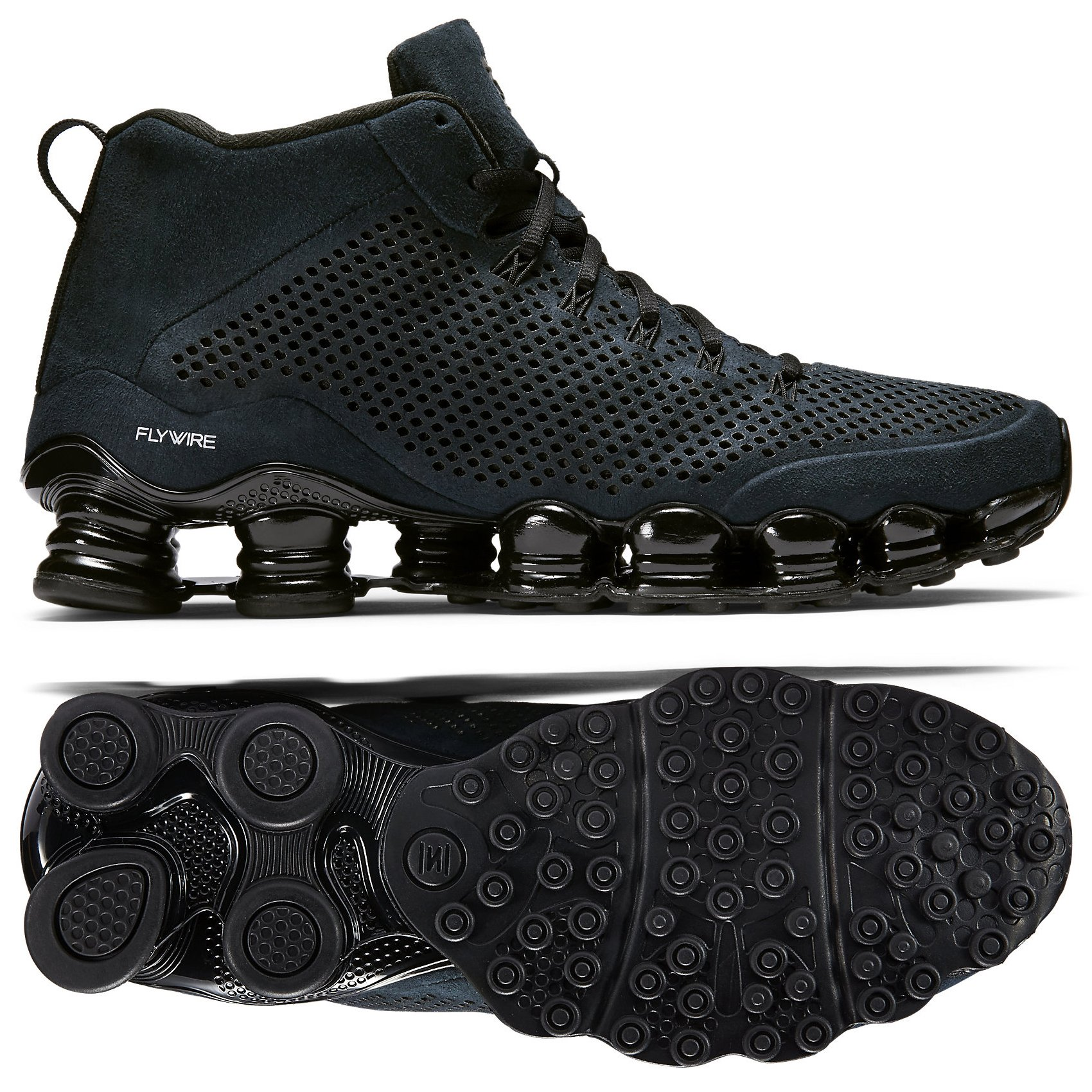 size 40 7ba5e 1c3c2 Galleon - Nike Shox TLX MID SP Black Suede 677737-001 Men's ...