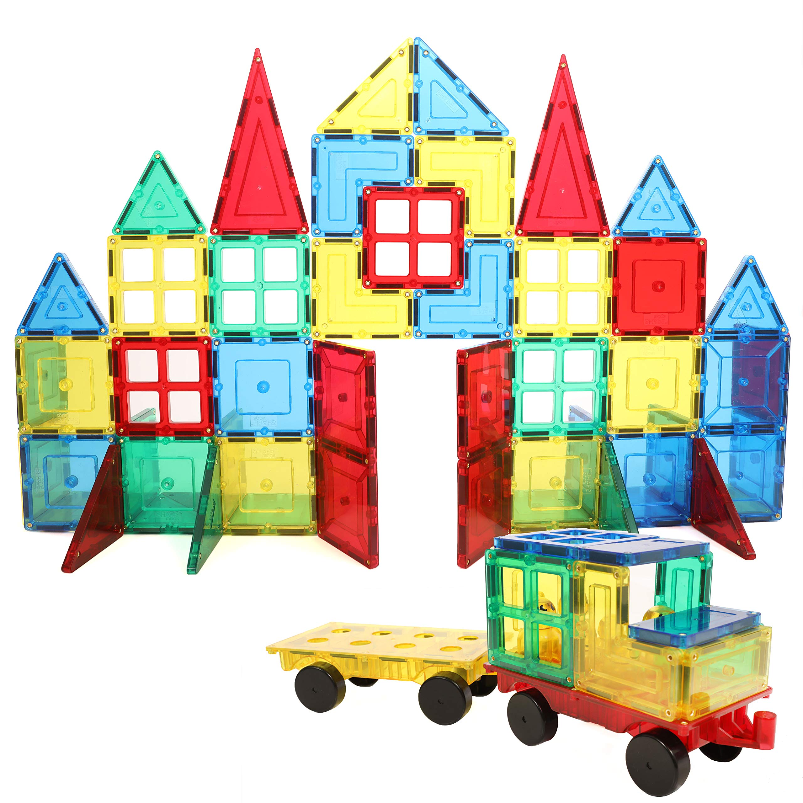 Magnetic Stick N Stack Award Winning 160 Piece MEGA Set Includes 2 Wheel Bases, Windows and More (View All Photos)