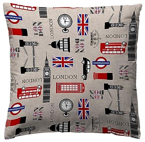 Amazon.com: Martina Home COJIN Covers England 45 x 45 cm ...