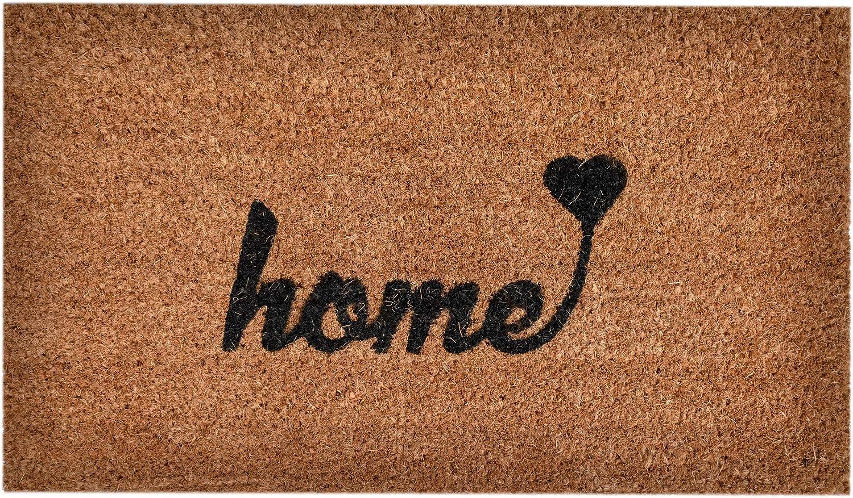NINAMAR Woven Door Mat All Natural Coir - Extra Thick - 36 x 24 inch - Home