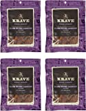 KRAVE Pork Jerky, Black Cherry Barbecue, Gluten-Free, 3.25 Ounce (Pack of 4)