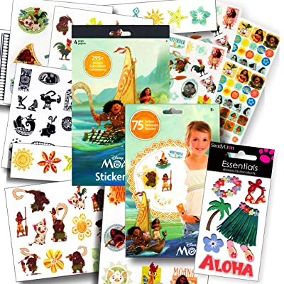 Disney Moana Stickers and Tattoos Party Favors Set: Toys & Games