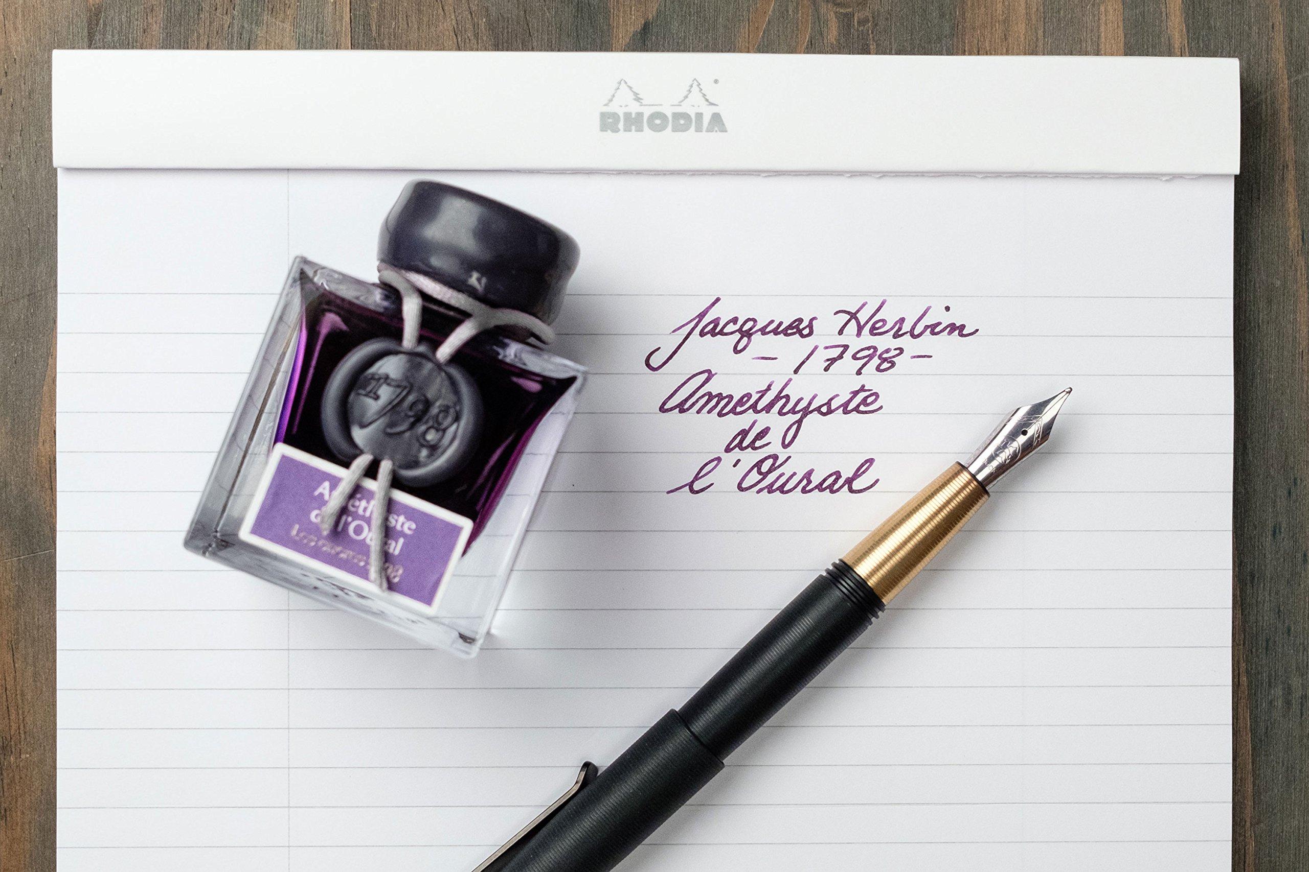 J. Herbin 1798 Anniversary Inks - Silver Sheen 50 ml Bottled - Amethyste de L'Oural (Rich Deep Purple Ink) by Herbin (Image #3)
