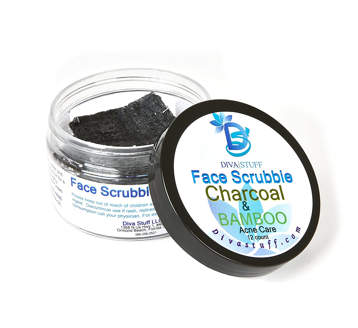 Amazon.com: Diva Stuff Charcoal & Bamboo Face Scrubbie for the ...