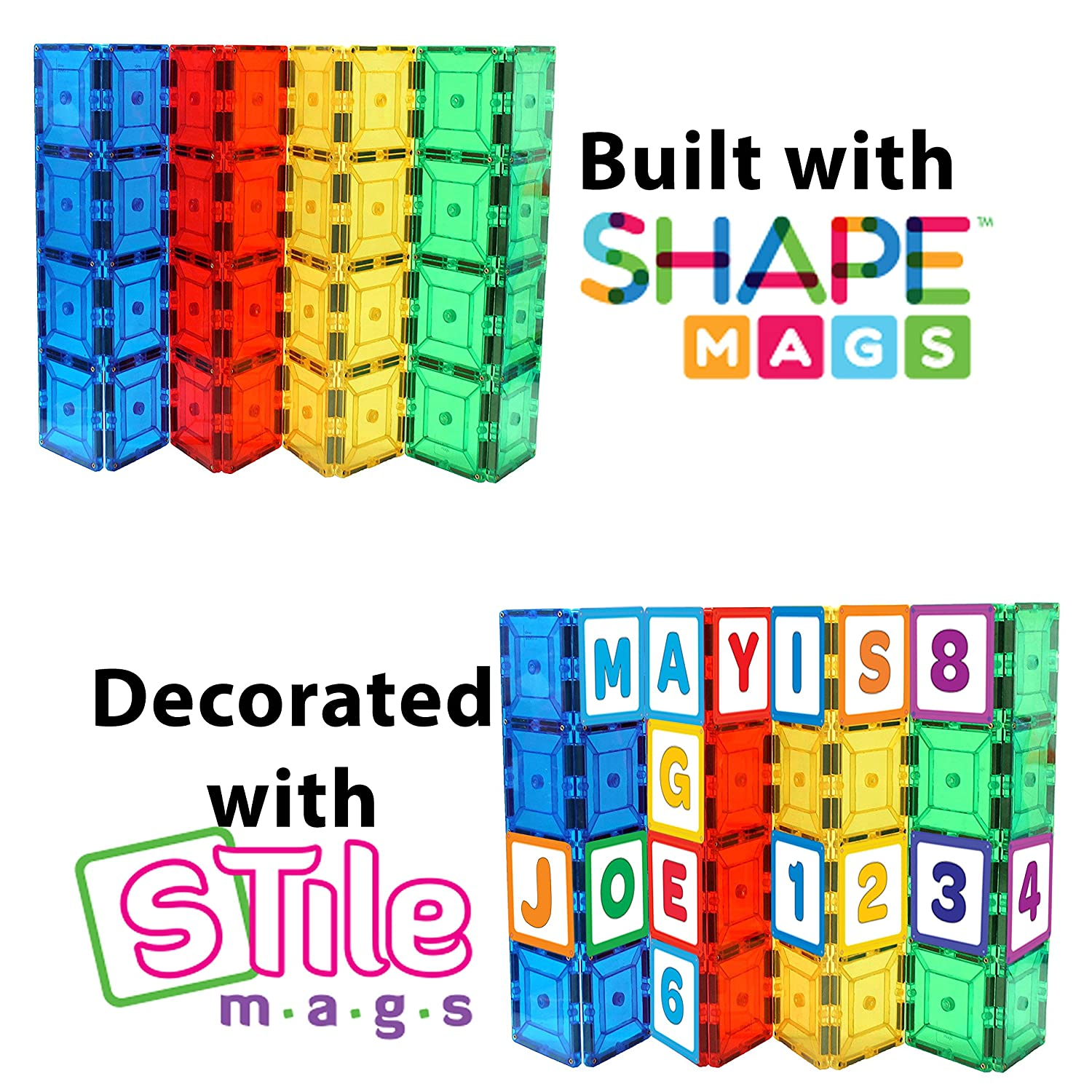 Shapemags Exclusive StileMags, Includes 36 Picture Tiles- All ABCs and Numbers, Easily Attaches to any Magnetic Tiles. Shapemags Not Included Review
