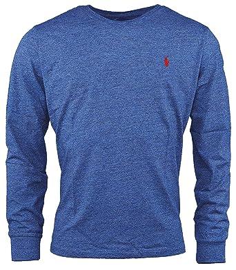 Polo Ralph Lauren Mens Custom-Fit Long Sleeve Crew Neck T-Shirt ... 3f3748ac8f5