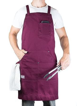 Hudson Durable Goods – Delantal profesional para cocina, barbacoa y parrilla