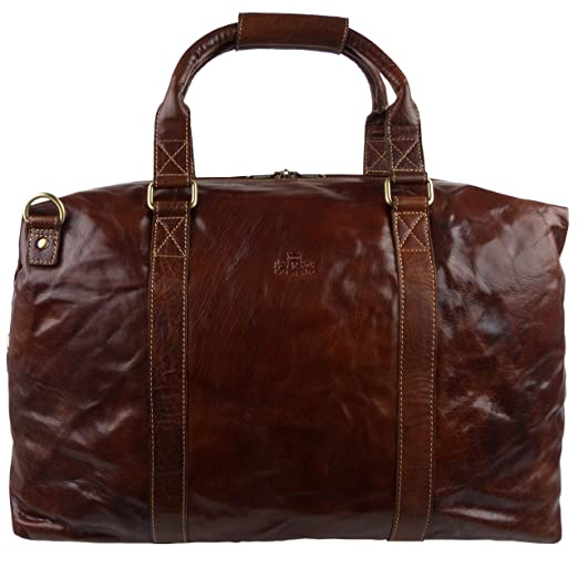 4c1e227404 Mens Ladies Large Buffalo LEATHER Holdall Travel Bag by Rowallan of Scotland   Bronco Collection Boston  Amazon.co.uk  Luggage