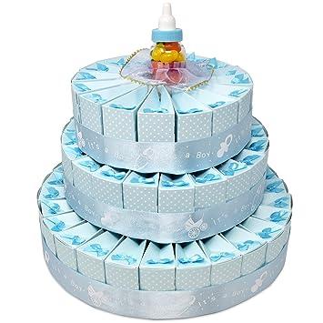 Amazon 3 Tier Blue Baby Boy Shower Favor Cake Dcor Kit Newborn