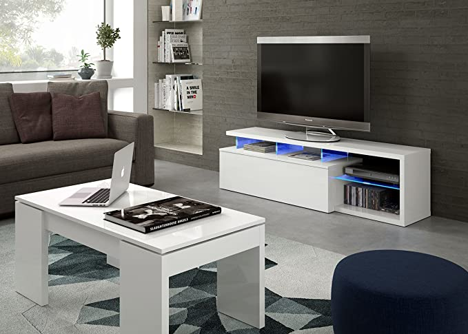Habitdesign 026630BO - Modulo de TV Moderno, Mueble Salon, Color ...