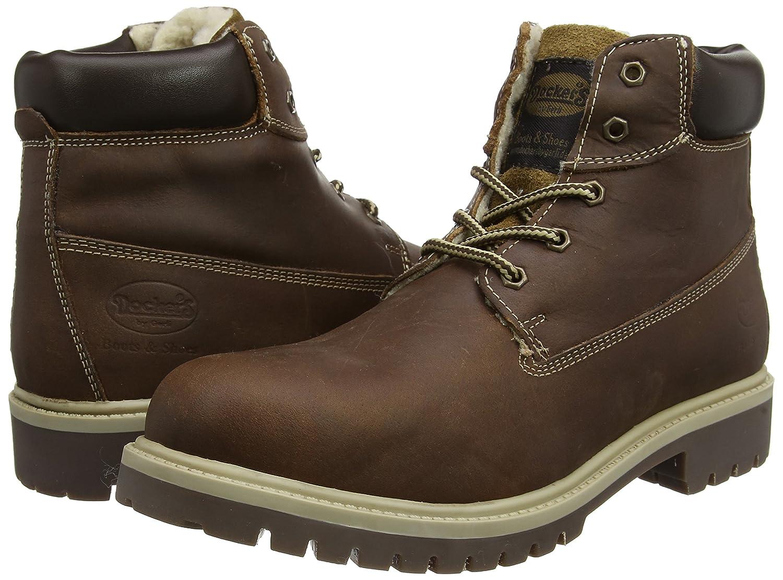 Dockers by Gerli Unisex-Kinder 35FN701-400 Combat Boots, Braun (Cognac 470), 40 EU
