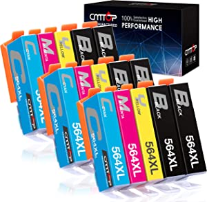 CMTOP 564XL Compatible Replacement for HP 564 Ink Cartridges, for HP Photosmart 5520 6520 7520 5510 6510 7510 C309A C410A Officejet 4620 Deskjet 3520 Printer (6 Black, 3 Cyan, 3 Magenta, 3 Yellow)