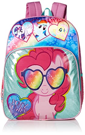 My Little Pony Girls' Pinkie Pie Pony Multi Compartment 16 Inch Backpack