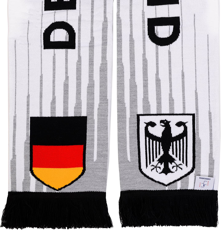 Euroscarves Germany Deutschland Soccer HD Knit Scarf
