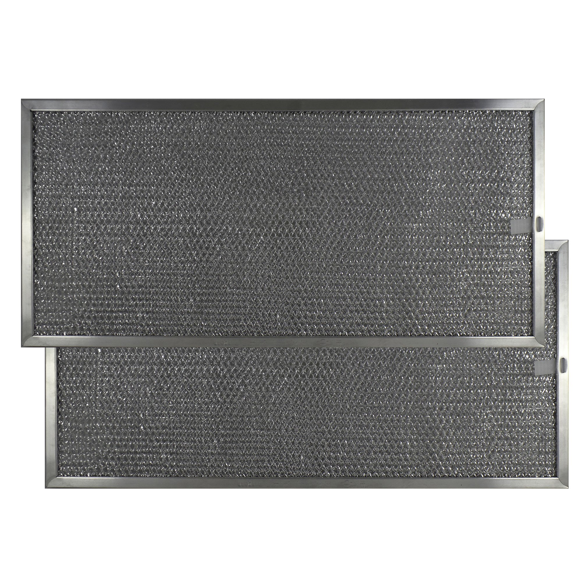 2 PACK Air Filter Factory 9 X 19 X 3/8 Range Hood Aluminum Grease Filters AFF182-M