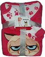 Fashion Grumpy Cat Coral 3 Piece Fleece Pajama Sleep Set w/Socks