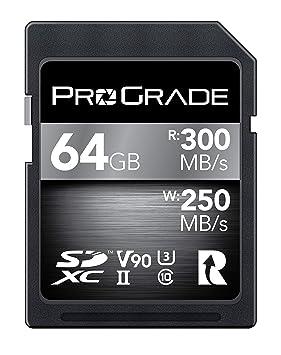 Tarjeta SD V90 (64GB):hasta 250MB/s de velocidad de ...
