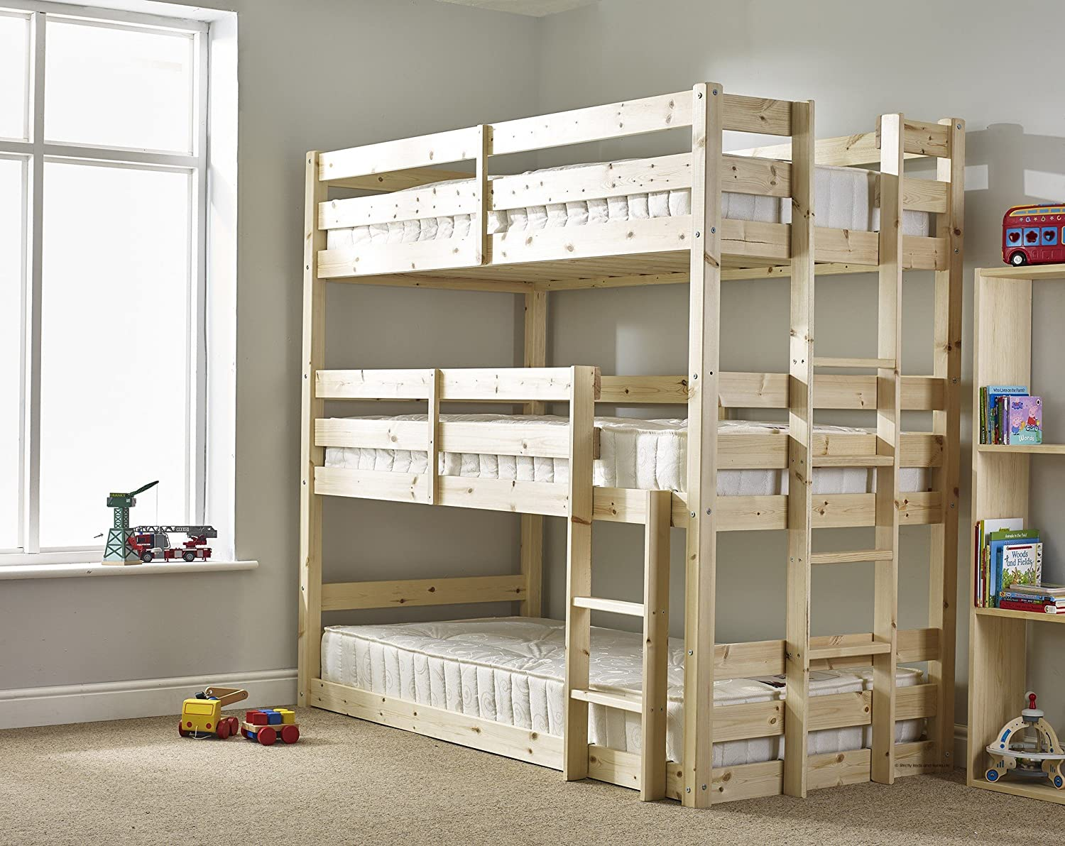 bunk bedroom furniture beds pine over american storage signature bed product stairs the trundle with collection ranger collections twin