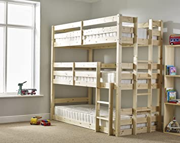 Three Sleeper Bunkbed 3ft Single Triple Sleeper Bunk Bed Very