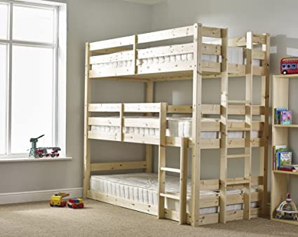Bed 3 Level Bunk Bed