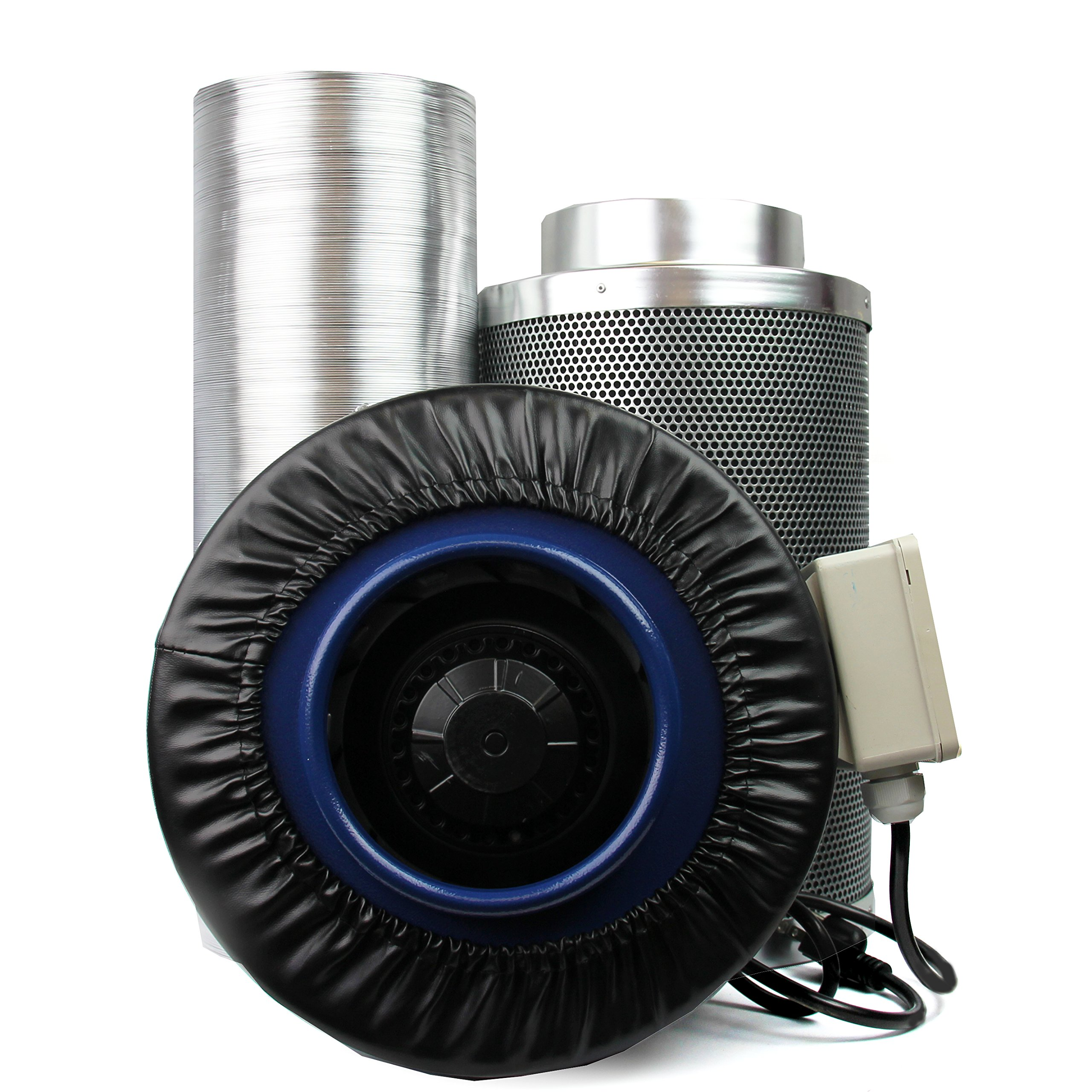 "Carbon Filter Fan- 6"" Carbon Fan Kit For Grow Tents And Indoor Gardens, Get Rid Of The Odor From Your Plants, a U.S. Solid Product"