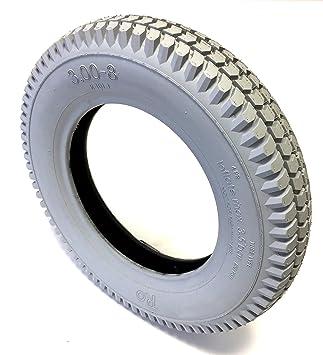 Silla Neumáticos 3.00 – 8, 4PR, Gris, kräftiges bloque perfil, estructura Neumáticos