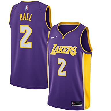 6575d6f162 Nike NBA Los Angeles Lakers Lonzo Ball 2 2017 2018 Icon Edition Jersey  Official Kobe Bryant